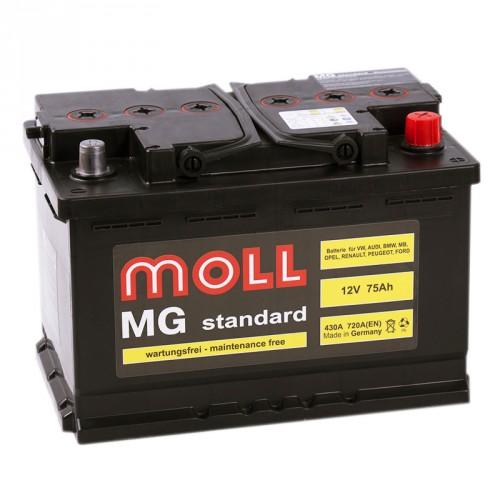 Аккумулятор Moll MG Standard 75 ач пп