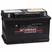 Аккумулятор Delkor 75 ач оп низкий (57539)
