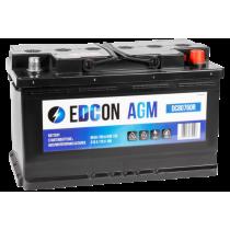 Аккумулятор EDCON AGM Start Stop 80 ач оп