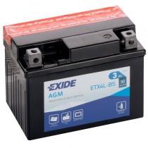 Аккумулятор Exide мото 3 ач ETX4L-BS