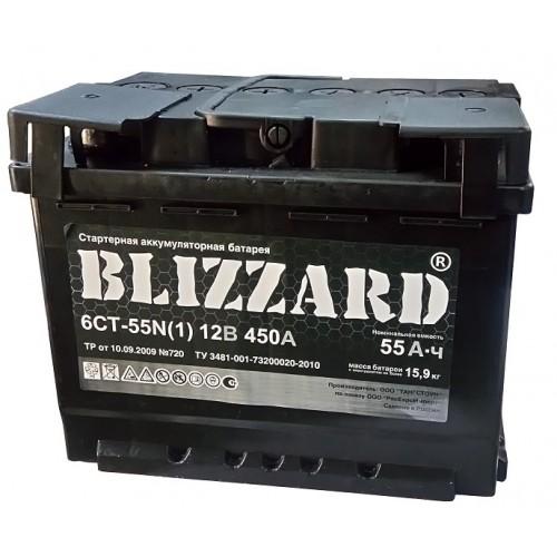 Аккумулятор Blizzard 55 ач оп