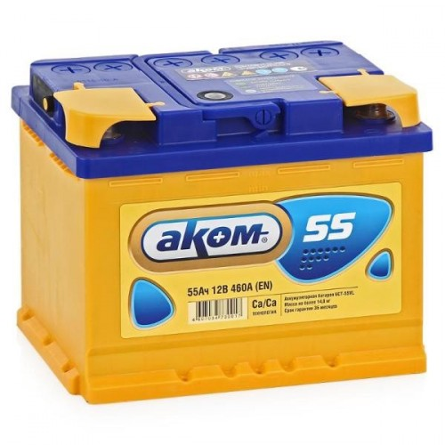 Аккумулятор Аком Евро 55 ач пп