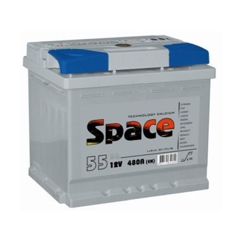 Аккумулятор Space 55 ач оп короткий