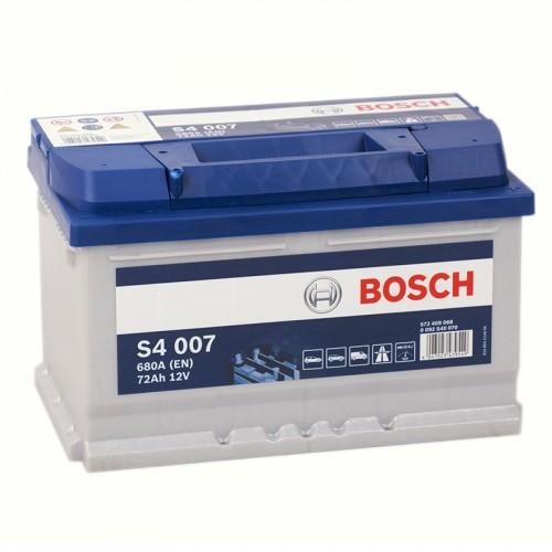 Аккумулятор Bosch Silver 72 ач оп низкий (S4 007) 572409068