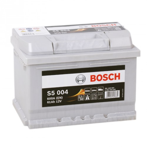 Аккумулятор Bosch Silver Plus 61 ач оп низкий (S5 004) 561400060