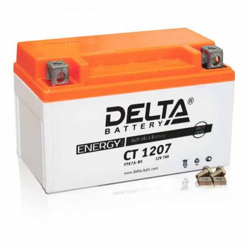 Аккумулятор Delta мото 7 ач (CT 1207 AGM)