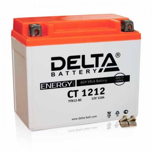 Аккумулятор Delta мото 12 ач (CT 1212 AGM)