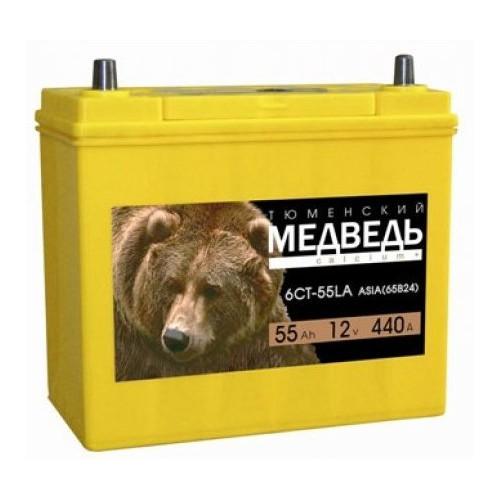 Аккумулятор Тюменский Медведь Азия 55 ач оп 65B24L тонк.кл.