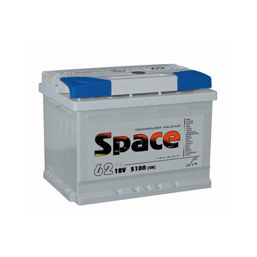 Аккумулятор Space 62 Ач оп низ (Ca/Ca)