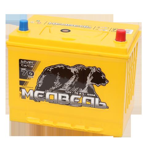 Аккумулятор Тюменский Медведь Азия 70 ач пп 85D26R (Ca/Ca)
