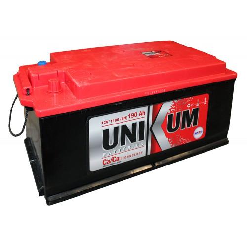 Аккумулятор Unikum 190 ач оп конус