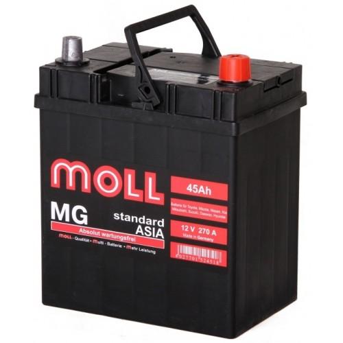 Аккумулятор Moll MG Asia 45 ач оп тонк.кл.