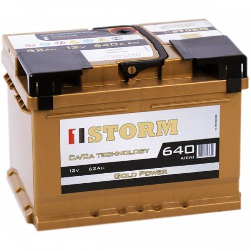 Аккумулятор Storm Power Gold 62 ач оп низкий