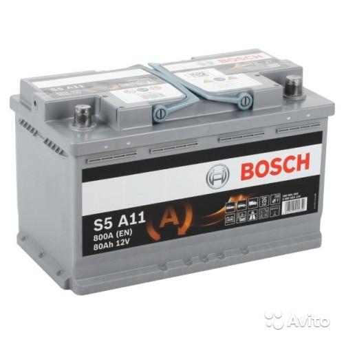 Аккумулятор Bosch AGM Start Stop 80 ач оп (S5 A11 580901080)