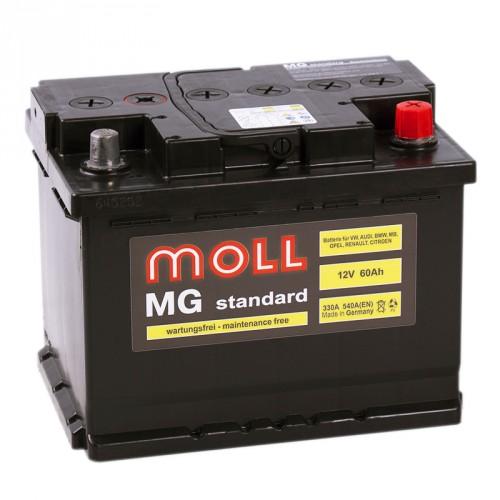 Аккумулятор Moll MG Standard 60 ач пп