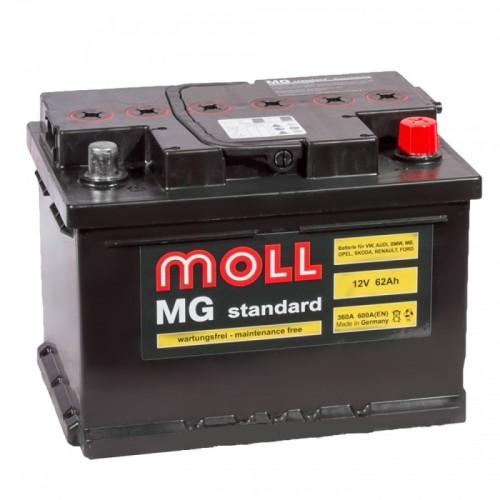 Аккумулятор Moll MG Standard 62 ач оп низкий